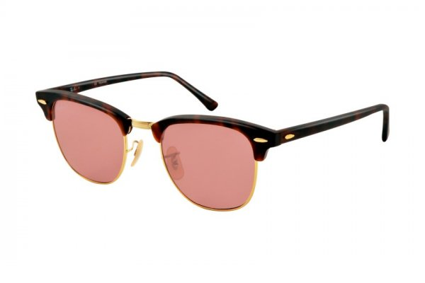 Очки Ray-Ban Clubmaster Special Series RB3016-1145-15 Matte Red Havana | Dark Pink Polar