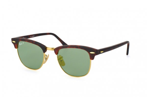 Очки Ray-Ban Clubmaster Special Series RB3016-1145-O5 Havana | Green Polarized