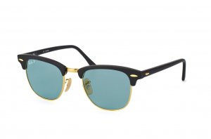 Очки Ray-Ban Clubmaster Special Series RB3016-901S-3R Matt Black | Blue Polarized