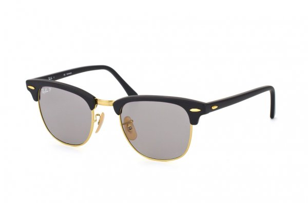 Очки Ray-Ban Clubmaster Special Series RB3016-901S-P2 Matt Black | Grey Polarized