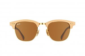 Очки Ray-Ban Clubmaster Wood RB3016M-1179 White Wood/Arista/Brown | Natural Brown (B-15XLT)