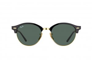 Очки Ray-Ban Clubround RB4246-901 Black | Natural Green (G-15XLT)