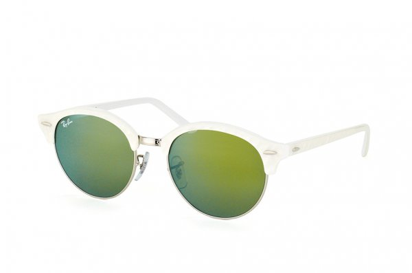 Очки Ray-Ban Clubround RB4246-988-2X White | Green Faded