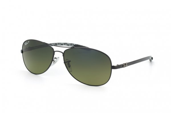 Очки Ray-Ban Cockpit Carbon Fibre RB8301-006-97 Matt Black | Neophan Blue Faded Green Polarized P3 Plus