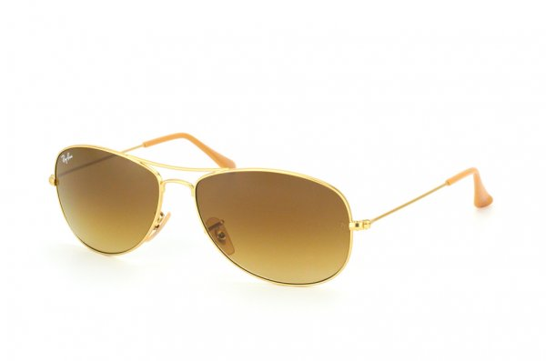 Очки Ray-Ban Cockpit RB3362-112-85 Matte Gold | Brown Faded Yellow