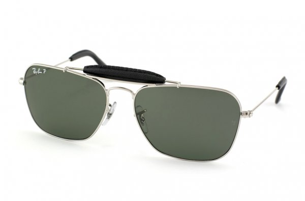 Очки Ray-Ban Craft Caravan RB3415Q-003-N5 Silver/Black | Neophan Polar Green P3 Plus