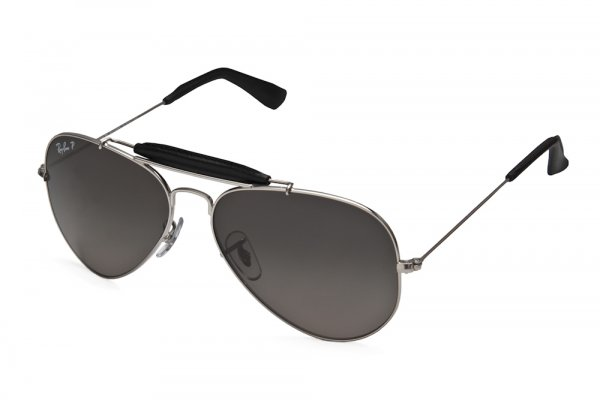 Очки Ray-Ban Craft Outdoorsman RB3422Q-003-M8 Silver/Black | Polar Faded Grey P3 Plus