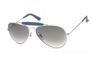Очки Ray-Ban Craft Outdoorsman RB3422Q-108-32 Silver Insert Violet Leather | Gradient Grey