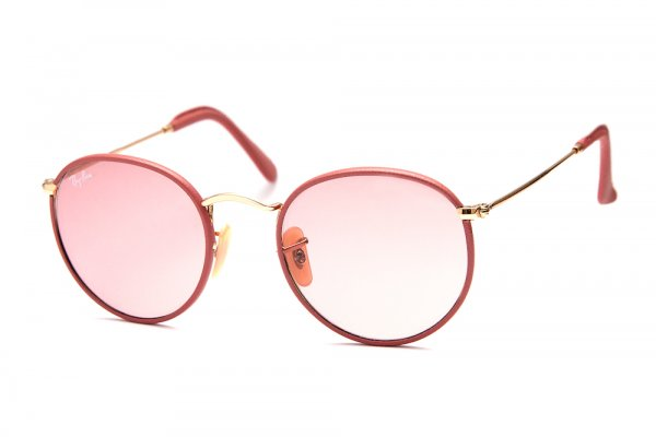 Очки Ray-Ban Craft Round Metal RB3475Q-001-4B Arista/Insert Antique Pink Leather/Pink