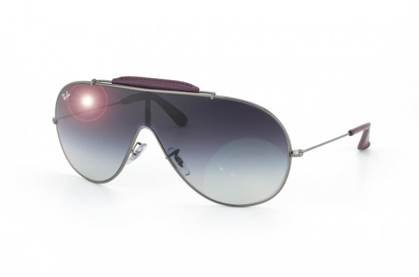 Очки Ray-Ban Craft Wings RB3416Q-110-8G Gunmetal / Insert Wine Leather | APX Gradient Grey