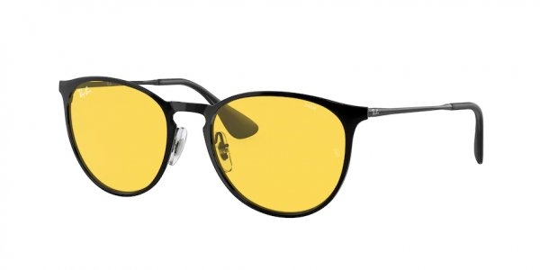 Очки Ray-Ban Erika Metal Evolve RB3539-002-Q1 Black | Yellow To Green