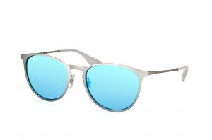 Очки Ray-Ban Erika Metal RB3539-9015-B4 Beige| Light Blue