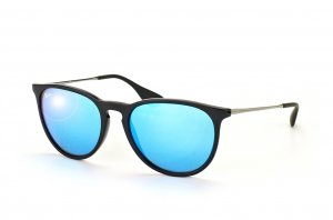 Очки Ray-Ban Erika RB4171-601-55 Black/Gunmetal | Blue Mirror