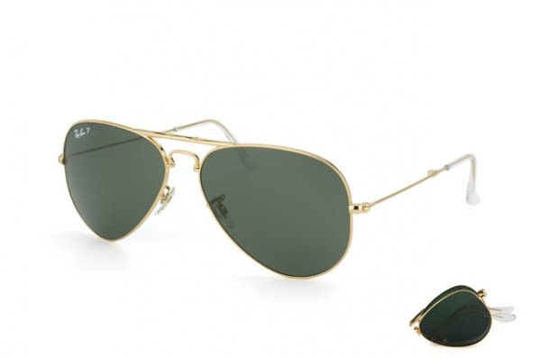 Очки Ray-Ban Folding Aviator RB3479-001-58 Arista | Natural Green Polarized