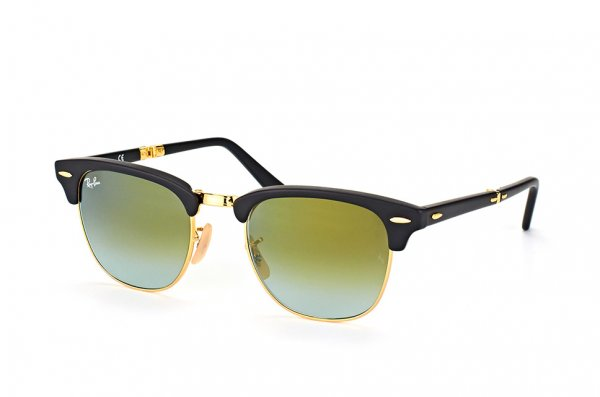 Очки Ray-Ban Folding Clubmaster RB2176-901S-9J Matte Black | Faded Green