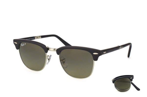 Очки Ray-Ban Folding Clubmaster RB2176-901S-M8 Matte Black | Polar Faded Grey P3 Plus