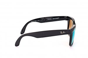 Очки Ray-Ban Folding Wayfarer RB4105-6069-4J Matt Dark Grey | Green Gradient Mirror