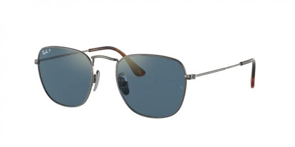 Очки Ray-Ban Frank RB8157-9208-T0 Dark Silver | Blue Mirror Polarized