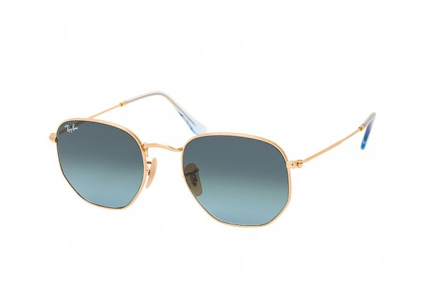 Очки Ray-Ban Hexagonal Flat Lenses RB3548N-9123-3M Arista | Gradient Blue