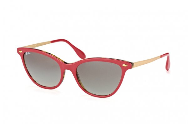 Очки Ray-Ban Highstreet Cats RB4360-1234-11 Red | Faded Grey