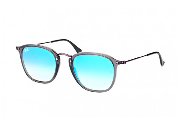 Очки Ray-Ban Highstreet Flat Lenses RB2448N-6255-4O Grey | Blue Gradient Mirror