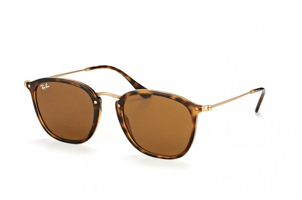 Очки Ray-Ban Highstreet Flat Lenses RB2448N-710 Havana/Matt Arista| Natural Brown