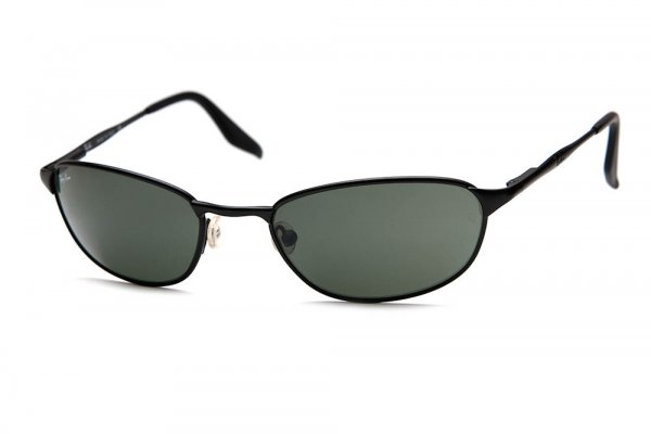 Очки Ray-Ban Highstreet Metal Square Wrap RB3023-W2963 Black | Natural Green (G-15XLT)