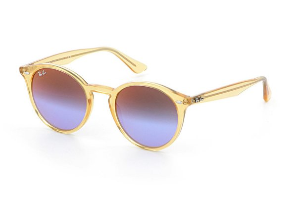 Очки Ray-Ban Highstreet RB2180-6277-B1 Transparent Yellow | Dark Violet Blue