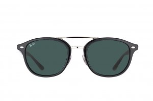 Очки Ray-Ban Highstreet RB2183-901-71 Black / Silver |  Grey/Green