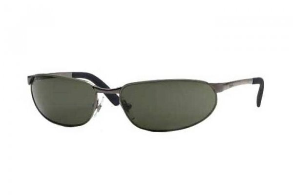 Очки Ray-Ban Highstreet RB3162-004 Gunmetal | Natural Green (G-15 XLT)
