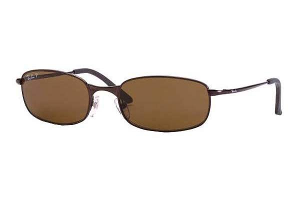 Очки Ray-Ban Highstreet RB3162-012-47 Matte Brown | Brown Polarized