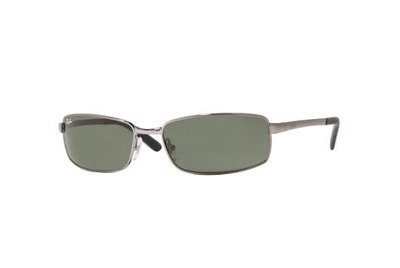 Очки Ray-Ban Highstreet RB3194-004 Gunmetal | Natural Green (G-5 XLT)