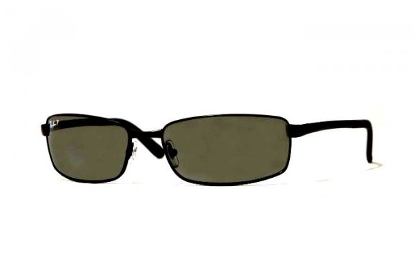 Очки Ray-Ban Highstreet RB3194-006-58 Matte BLack | Natural Green Polarized
