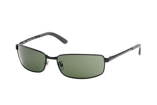 Очки Ray-Ban Highstreet RB3194-006 Matte BLack | Natural Green(G-15 XLT)