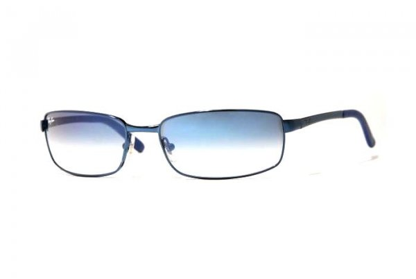 Очки Ray-Ban Highstreet RB3194-017-3F Matte Blue | Gradient Light Blue