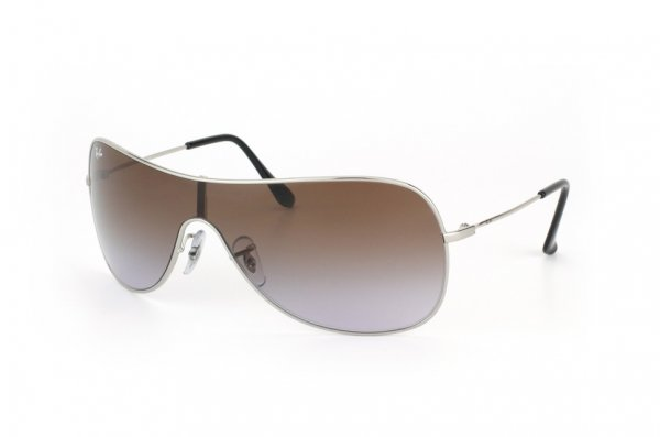 Очки Ray-Ban Highstreet RB3211-003-68 Silver | APX Brown Faded Violet