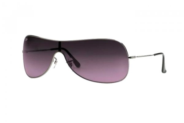 Очки Ray-Ban Highstreet RB3211-004-90 Gunmetal | Blue Gradient Pink