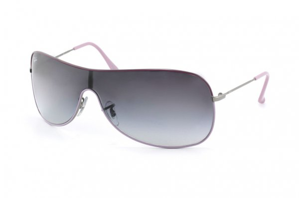 Очки Ray-Ban Highstreet RB3211-072-8G Gunmetal Bridge and Temple, Violet Frame Top, Lilac Frame Bottom | APX Gradient Grey