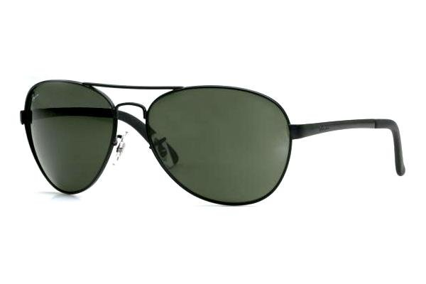 Очки Ray-Ban Highstreet RB3213-006 Matte BLack | Natural Green (G-15 XLT)