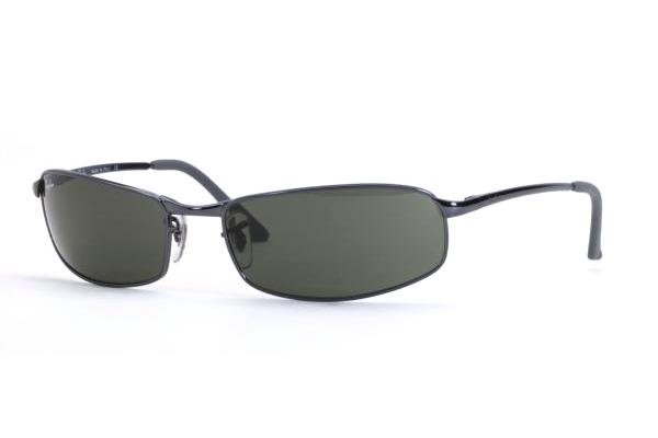 Очки Ray-Ban Highstreet RB3218-015 Gunmetal / Blue | Natural Green (G-15 XLT)