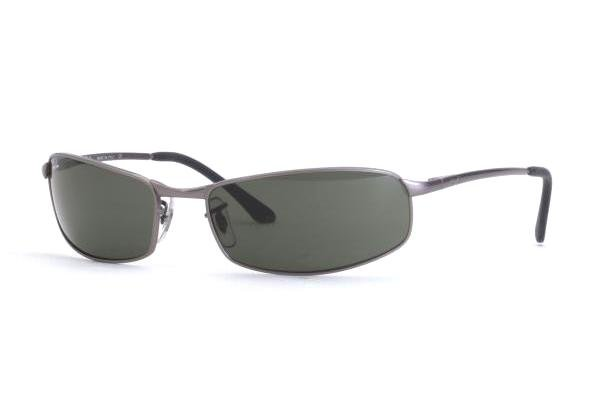 Очки Ray-Ban Highstreet RB3218-018 Matte Gunmetal | Natural Green (G-15 XLT)