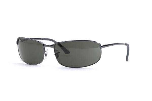 Очки Ray-Ban Highstreet RB3220-015 Gunmetal / Blue | Natural Green (G-15 XLT)