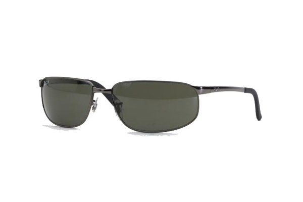 Очки Ray-Ban Highstreet RB3221-004-48 Gunmetal | Natural Green Polarized
