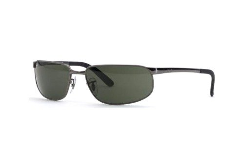 Очки Ray-Ban Highstreet RB3221-004 Gunmetal | Natural Green (G-15 XLT)