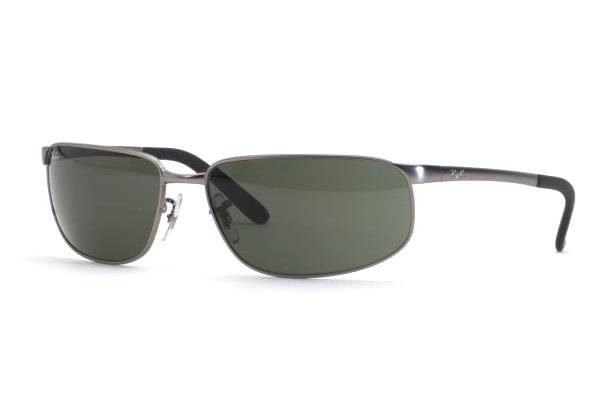 Очки Ray-Ban Highstreet RB3221-005 Matte Gunmetal | Natural Green (G-15 XLT)