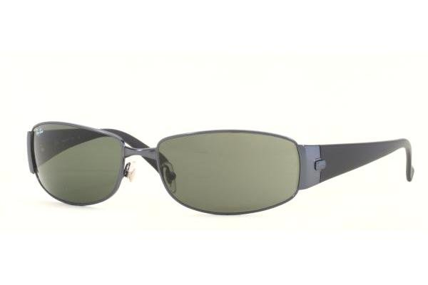 Очки Ray-Ban Highstreet RB3238-013 Matt Blue | Natural Green (G-15XLT)