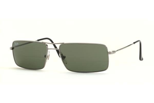 Очки Ray-Ban Highstreet RB3240-004 Gunmetal | Natural Green (G-15 XLT)