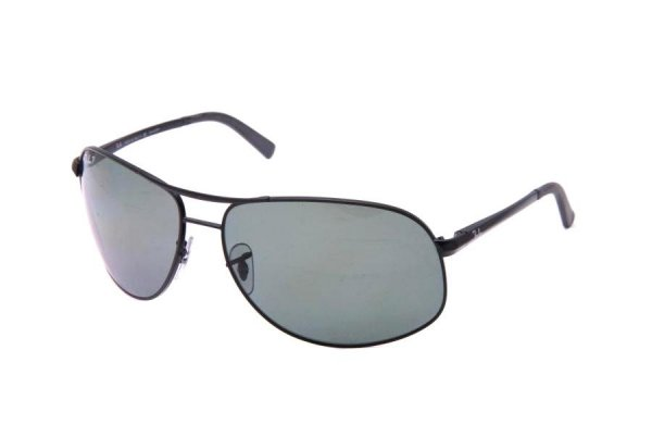 Очки Ray-Ban Highstreet RB3387-002-9A Black/Poly Polar Green