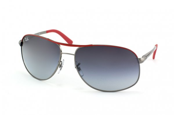 Очки Ray-Ban Highstreet RB3387-078-8G Red Frame Top/Gunmetal Frame Bottom