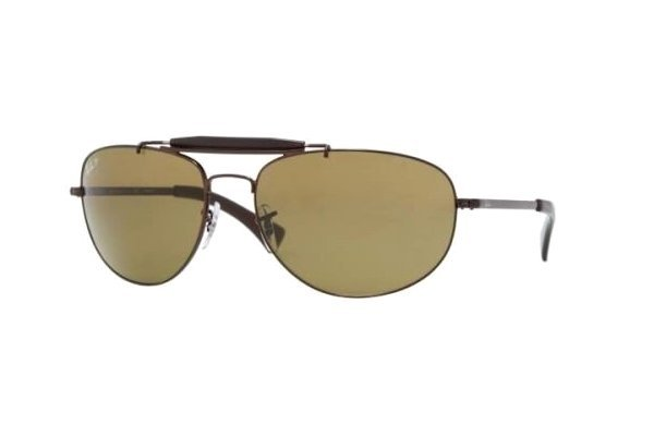 Очки Ray-Ban Highstreet RB3423-014-57 Brown | Natural Brown Polarized